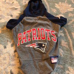 Patriots pet sweatshirt